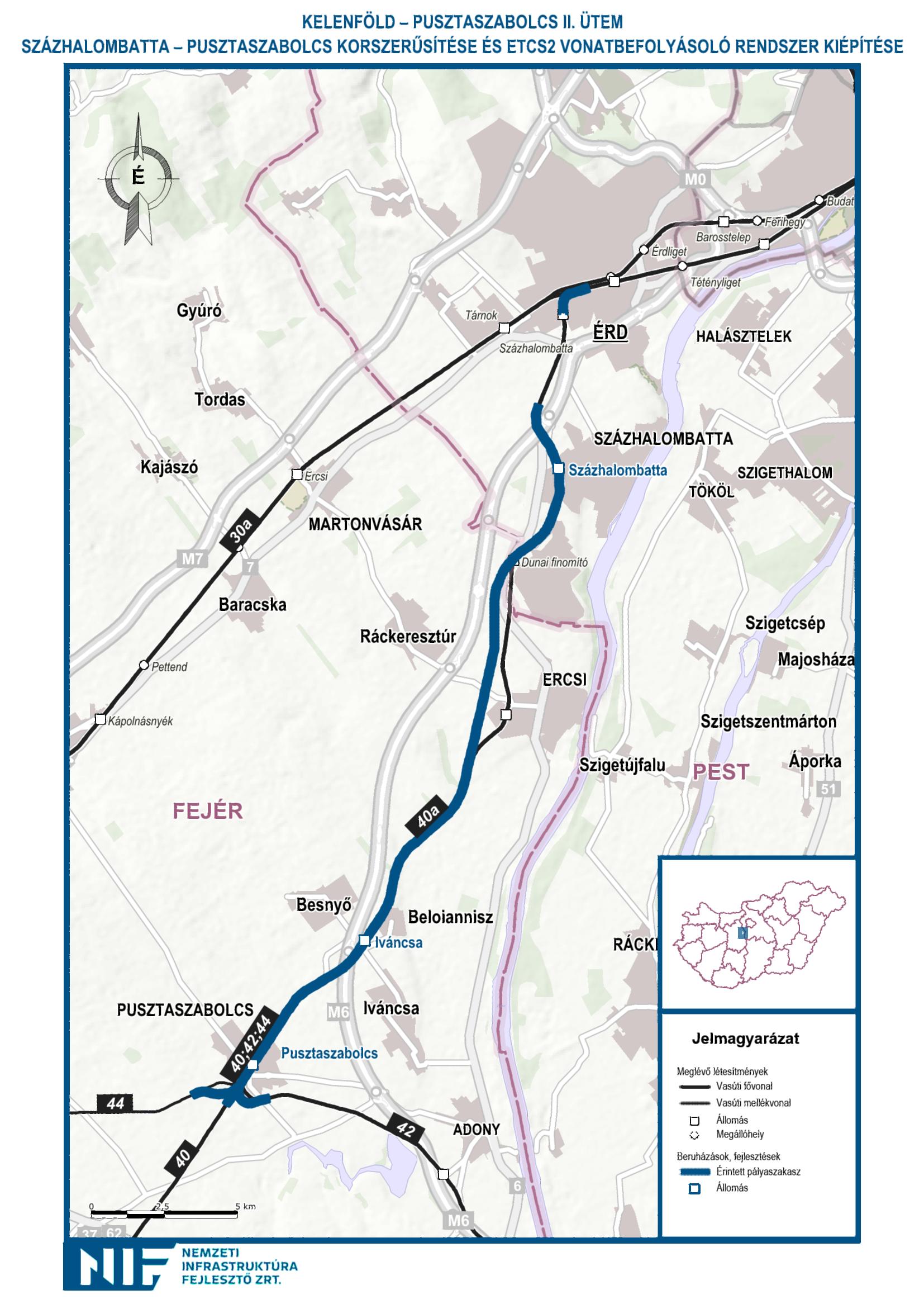 pusztaszabolcs térkép IHO   Vasút   A Százhalombatta–Pusztaszabolcs szakasszal  pusztaszabolcs térkép