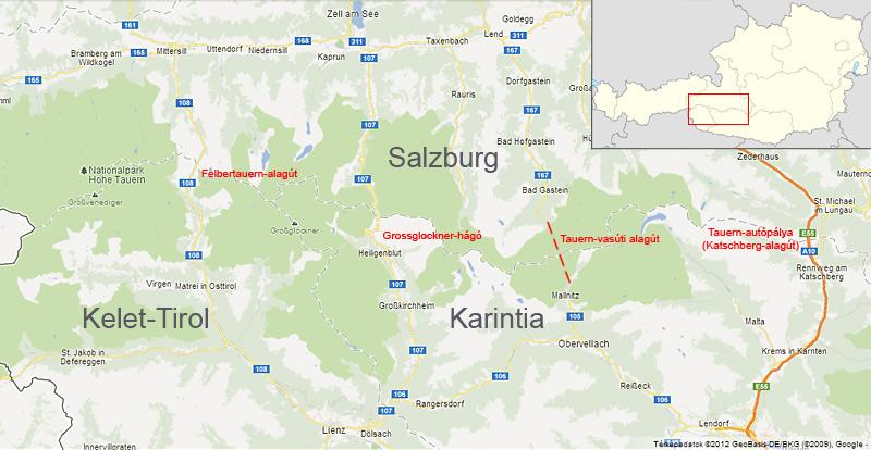 salzburg térkép IHO   Vasút   Nyolc kilométer a hegy alatt, a Tauerntunnel salzburg térkép