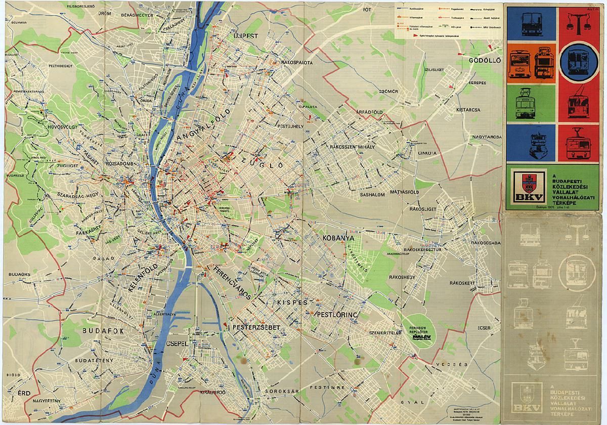 bkv vonalhálózati térkép IHO   Vasút   Újra van teljes vonalhálózati térkép Budapesten bkv vonalhálózati térkép