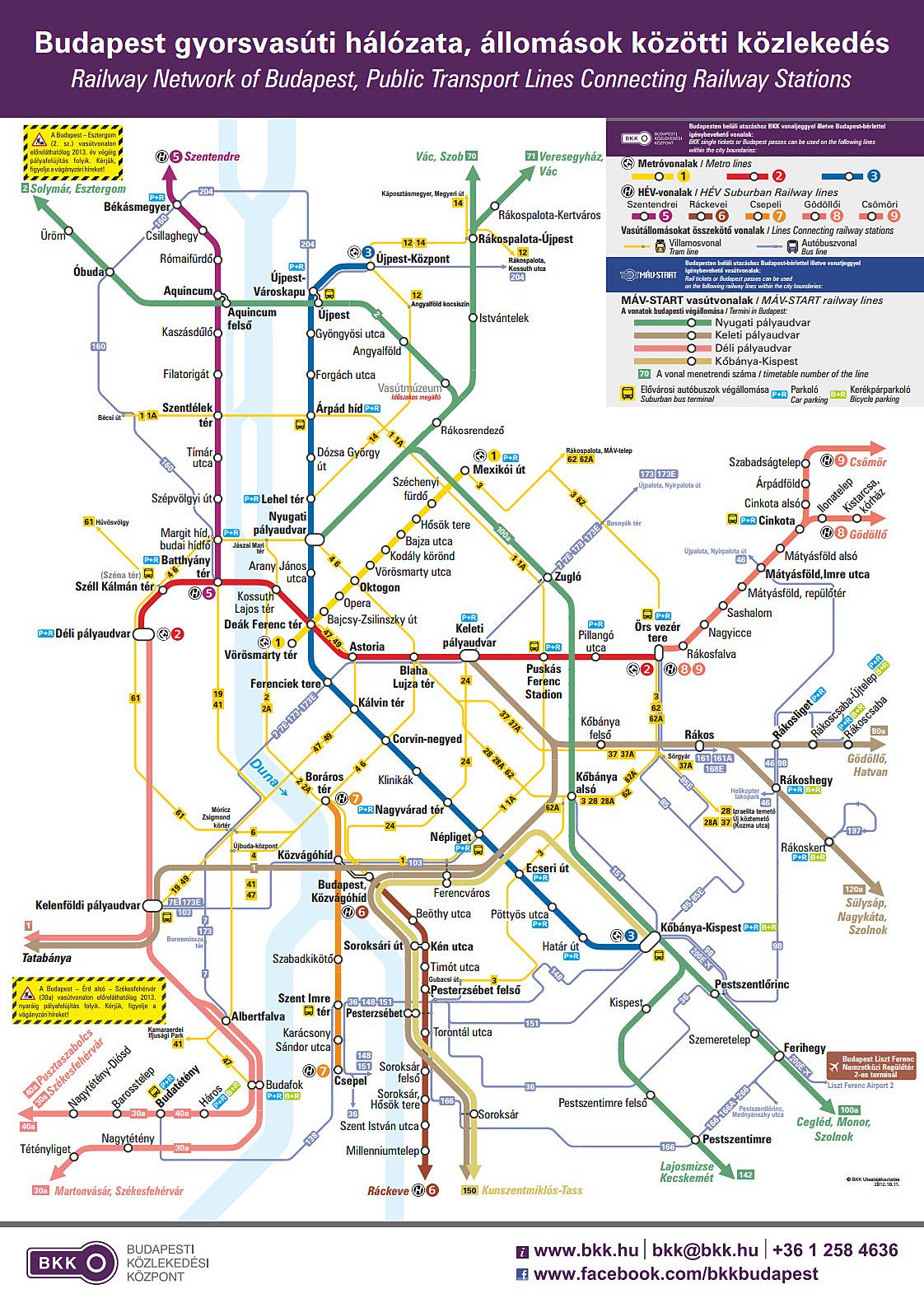 budapest vonalhálózati térkép IHO   Vasút   Újra van teljes vonalhálózati térkép Budapesten budapest vonalhálózati térkép