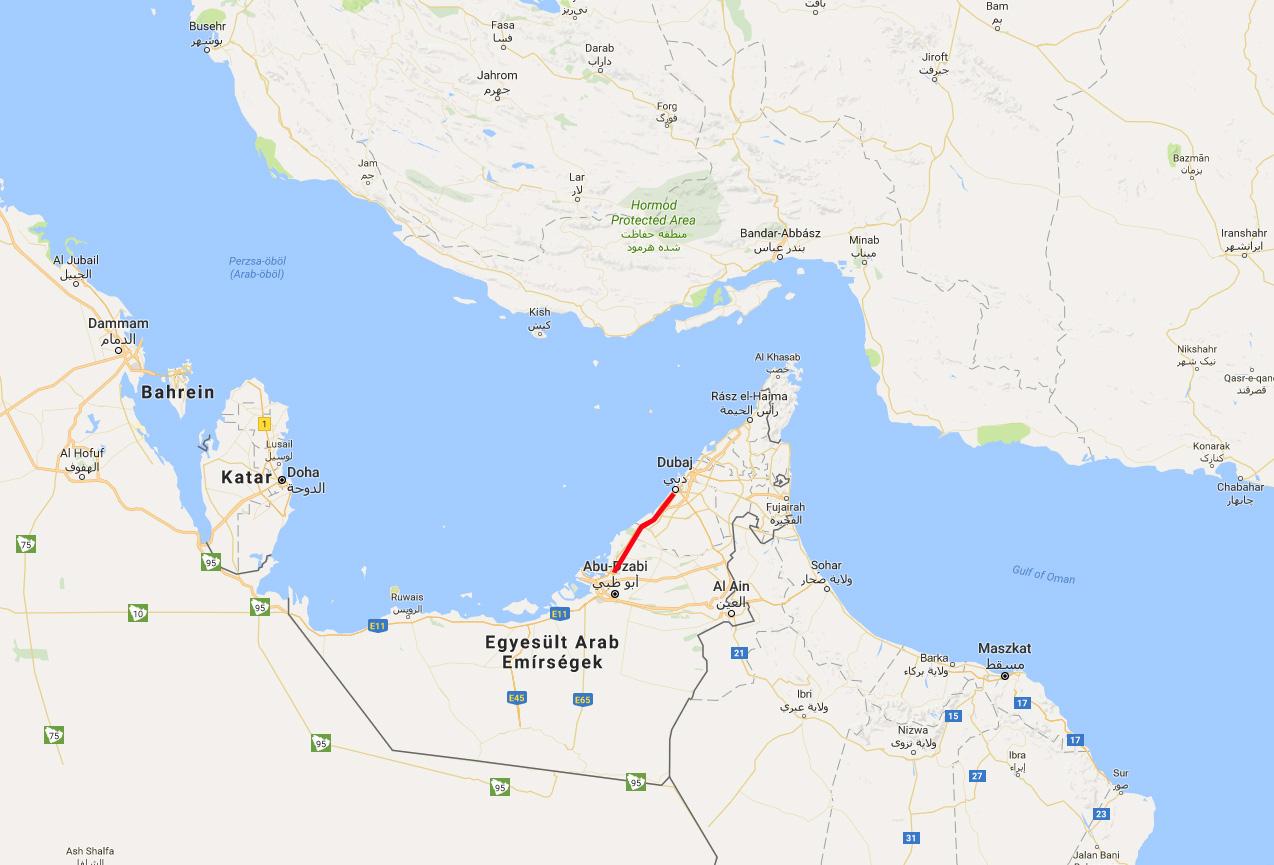 dubai térkép IHO   Vasút   Dubai–Abu Dhabi(–Pozsony?) dubai térkép