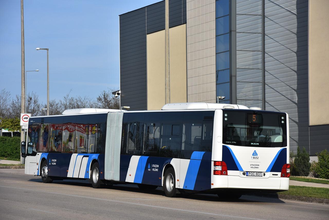 A tatabányai MAN Lion's City-k a magyar közösségi közforgalmú autóbuszok első dízelüzemű csuklósai. Kaposvár, Miskolc és Nyíregyháza a gázüzemű változatot üzemeltetik