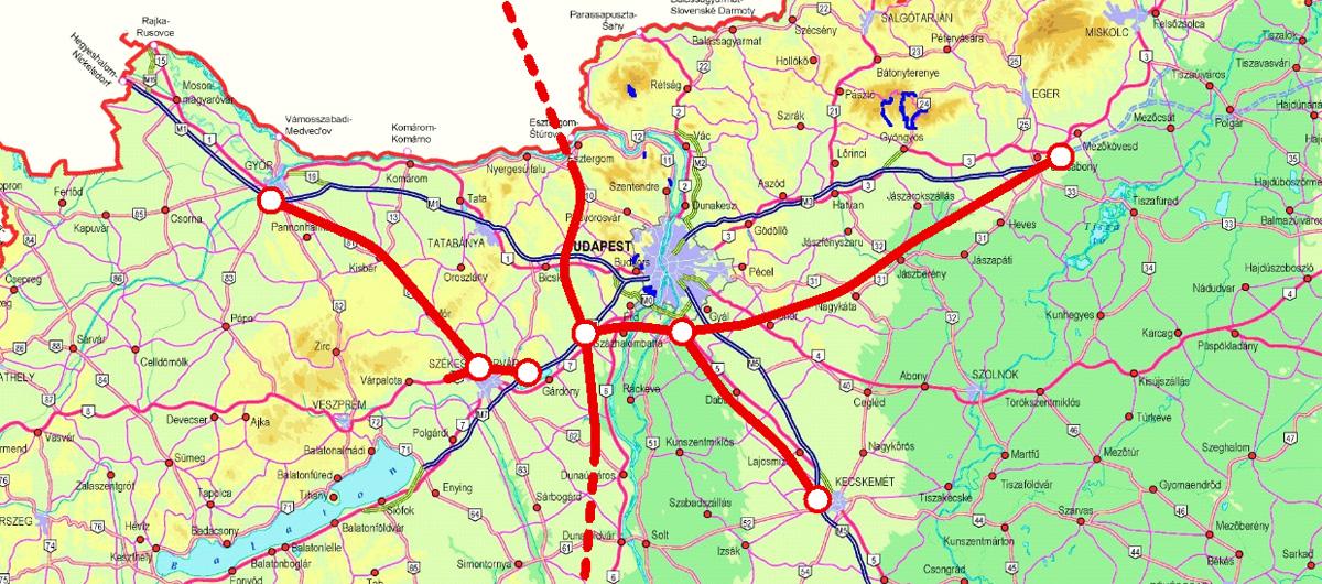 Egy átgondoltabban vezetett M3 esetén nem kellene gyűrű a fő tranzitforgalom elvezetéséhez (forrás: Zöldi Péter – iho)