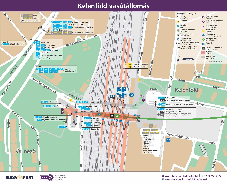 """kelenföld vasútállomás térkép IHO   Vasút   Így tömegközlekedünk a felszínen a 4 es metró """"után"""" kelenföld vasútállomás térkép"""