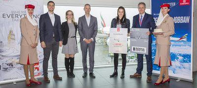 Egymilliomodik utasát köszöntötte Budapesten az Emirates