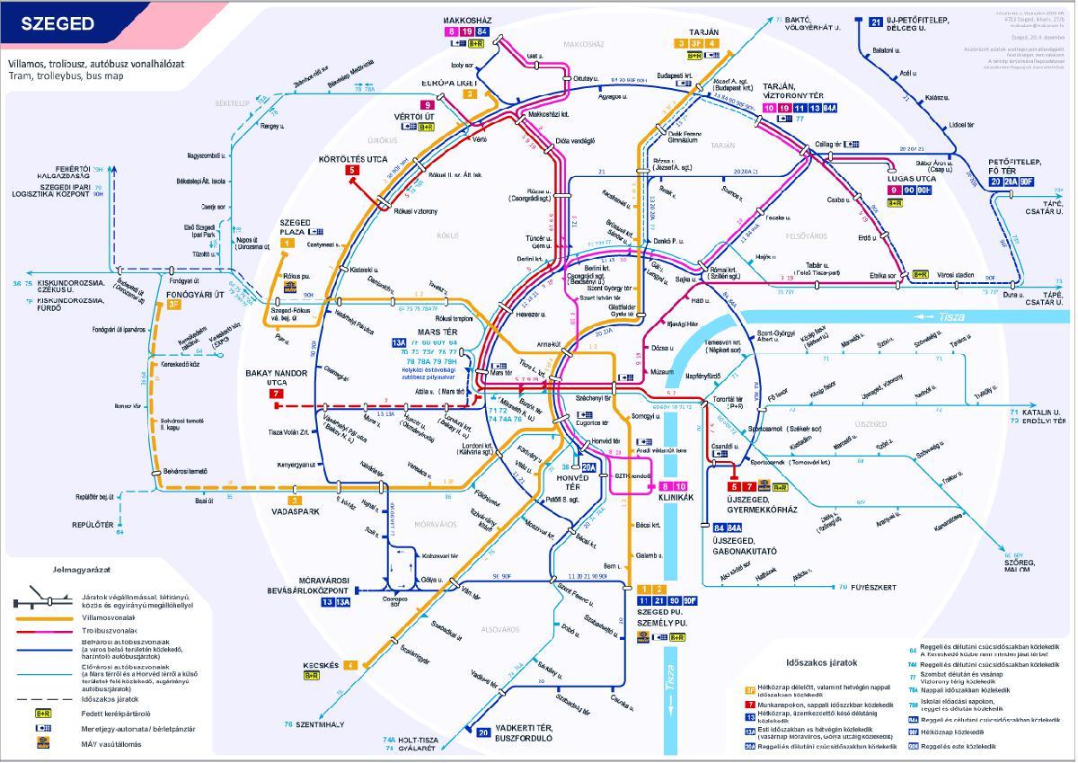 szeged tömegközlekedés térkép IHO   Közút   Koncentrikus körökben Szeged tömegközlekedése szeged tömegközlekedés térkép
