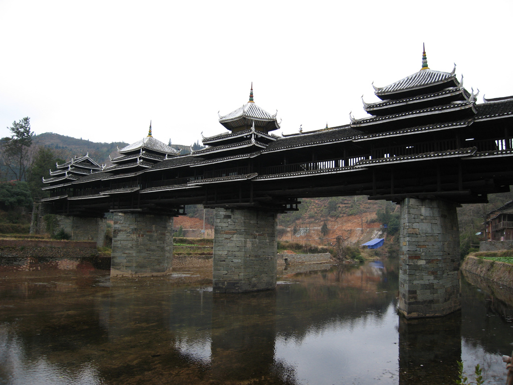 Arhitektura koja spaja ljude - Mostovi Wind-and-Rain-Bridge-China