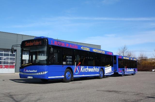 A Solaris már több német és svájci üzemeltetőnek is szállított pótkocsis buszokat<br />(fotó: Solaris)
