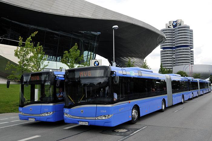 A Solaris nem ismeretlen márka a Münchner Verkehrsgesellschaft mbh (MVG) flottájában sem; korábban már szóló- és csuklós buszokat is vásároltak a lengyel cégtől<br />(fotó: MVG)