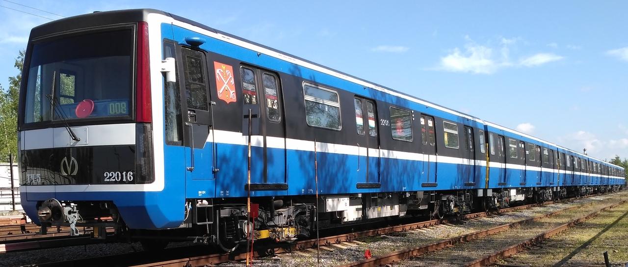 A szentpétervári metró egyik Jubilejnyij szerelvénye