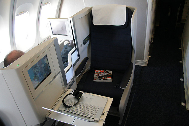 British Airways business ülések