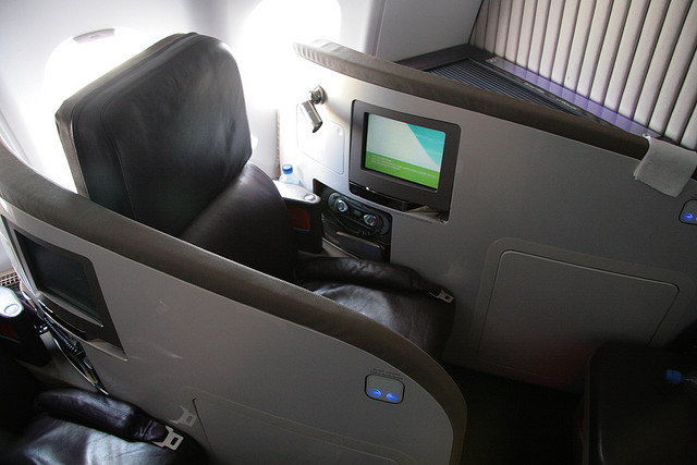 Virgin Atlantic upper class ülés
