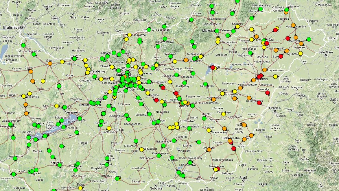 elvira térkép IHO   Vasút   Kelet Magyarország: továbbra is nagy késések elvira térkép