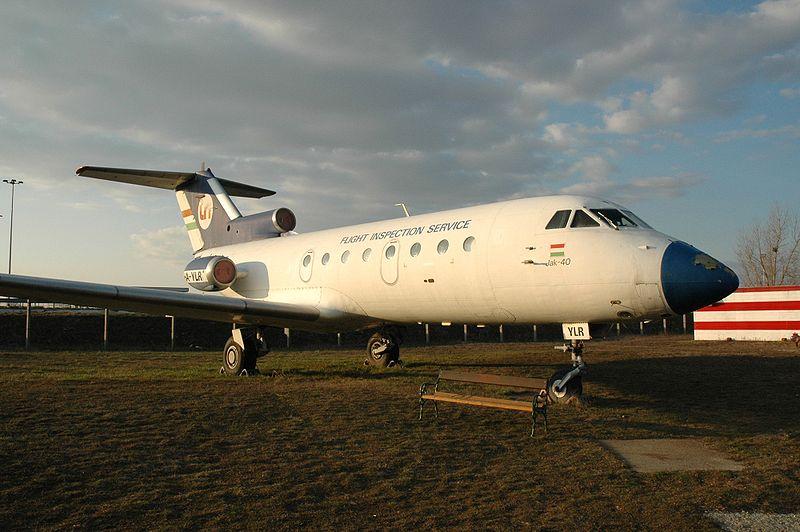 Az LRI Jak-40-ese <br>(fotó: wikimedia, Varga A.)