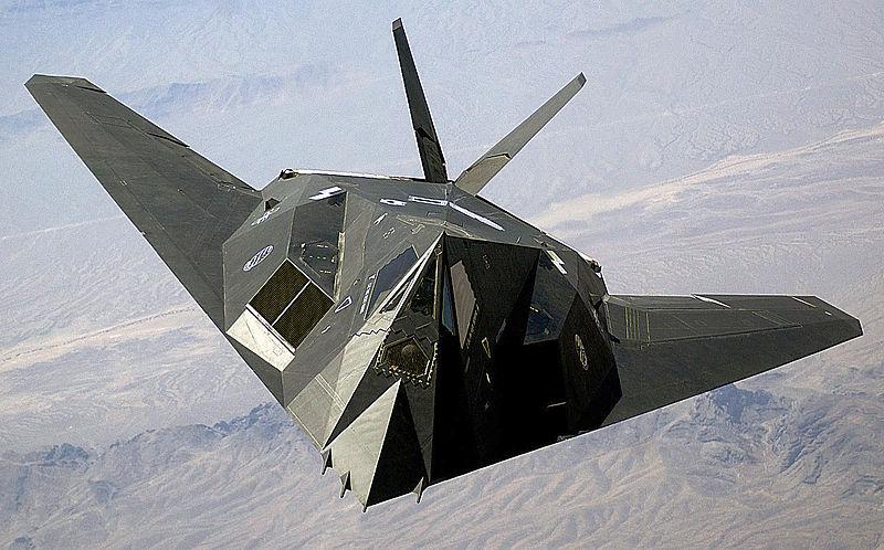 Az azóta szolgálatból kivont F-117-es