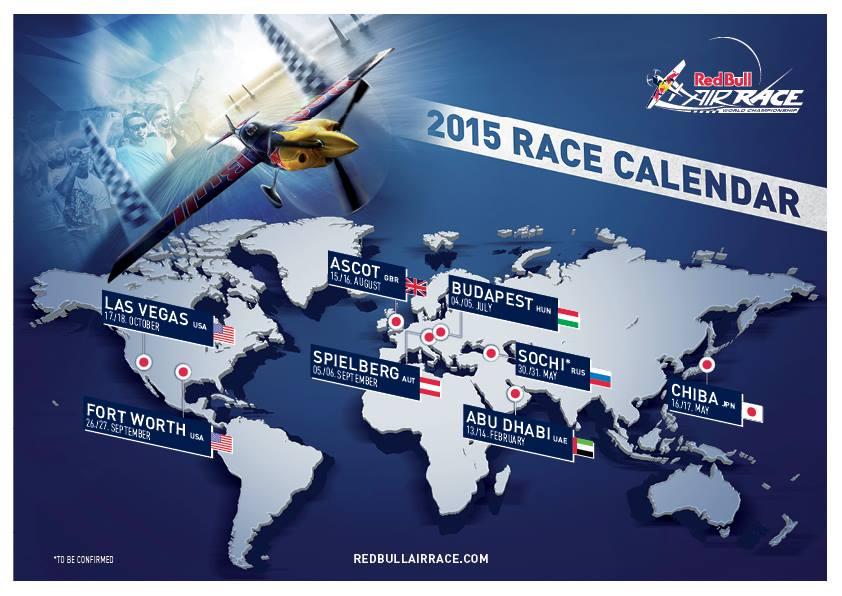 A jövő évi versenynaptár a helyszínekkel