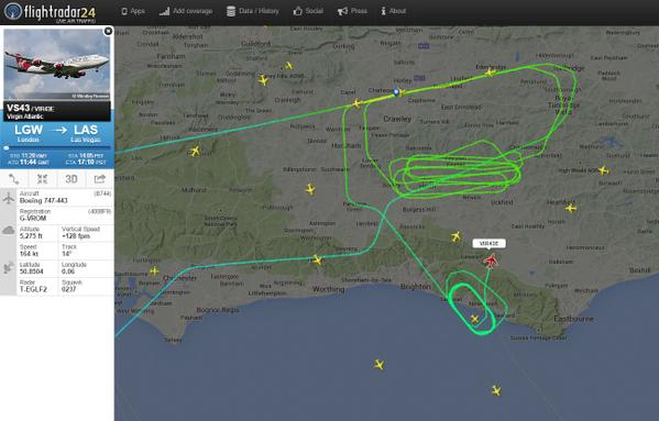 Így zajlott a repülés a Flightradar24 szerint