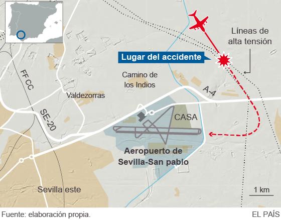 A gép megpróbált visszatérni a reptérre: az El Pais ábrája