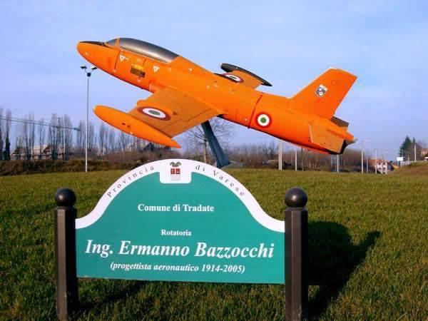 Ermanno Bazzocchi emlékműve Tradatében <br>(fotó: varesenews.it)
