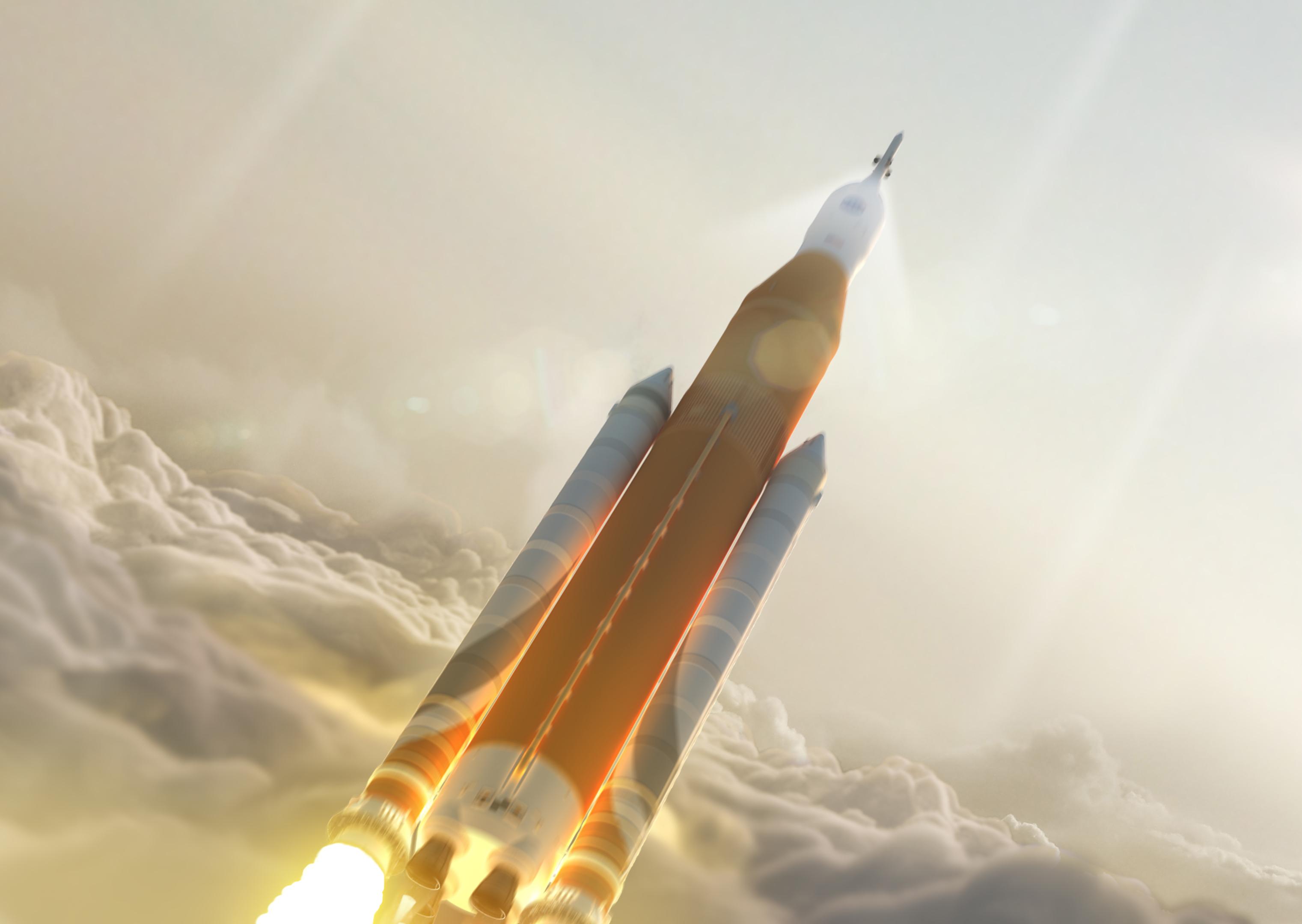 A Space Launch System tervezett óriásrakétája