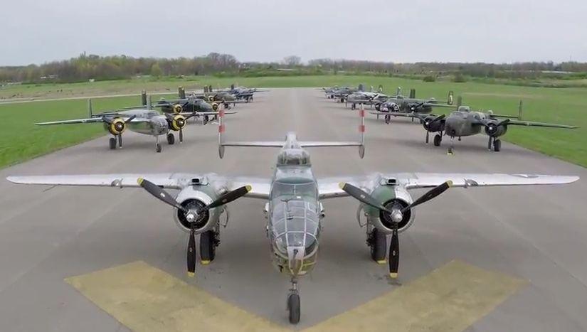 B-25-ösök a mostani megemlékezésen