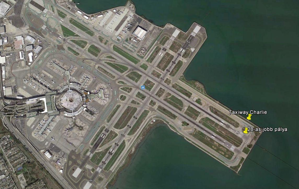 A Google Earth képe a repülőtérről