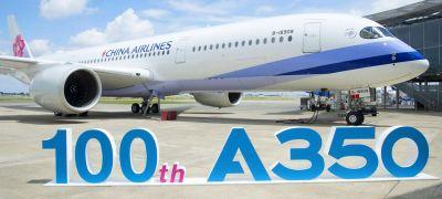 Airbus-hírek: századik A350, csökkenő A380-gyártás