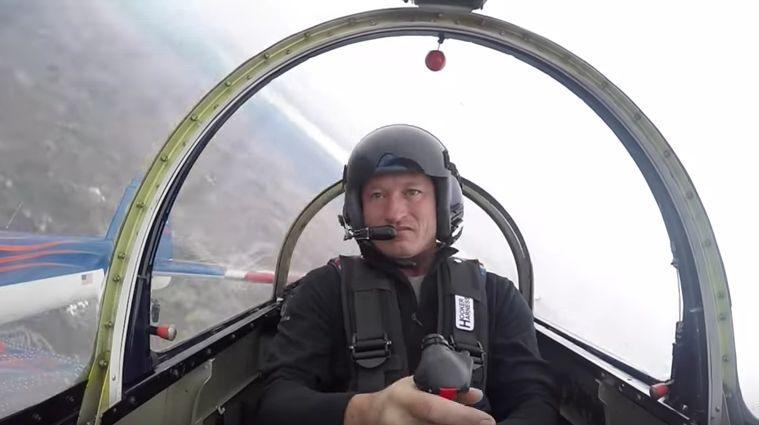 Jeff Boerboon élvezi a repülést...