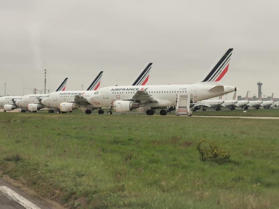Párizs, CDG, Air France parkoló<br>(fotó: aeronews.global)
