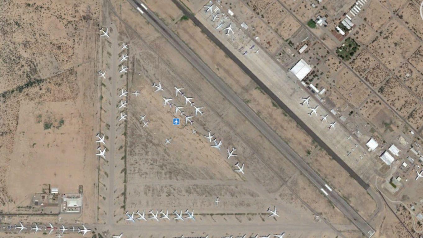 Marana, Arizona: sivatag, sok hely és száraz levegő, megfelelő tárolásra békeidőben is