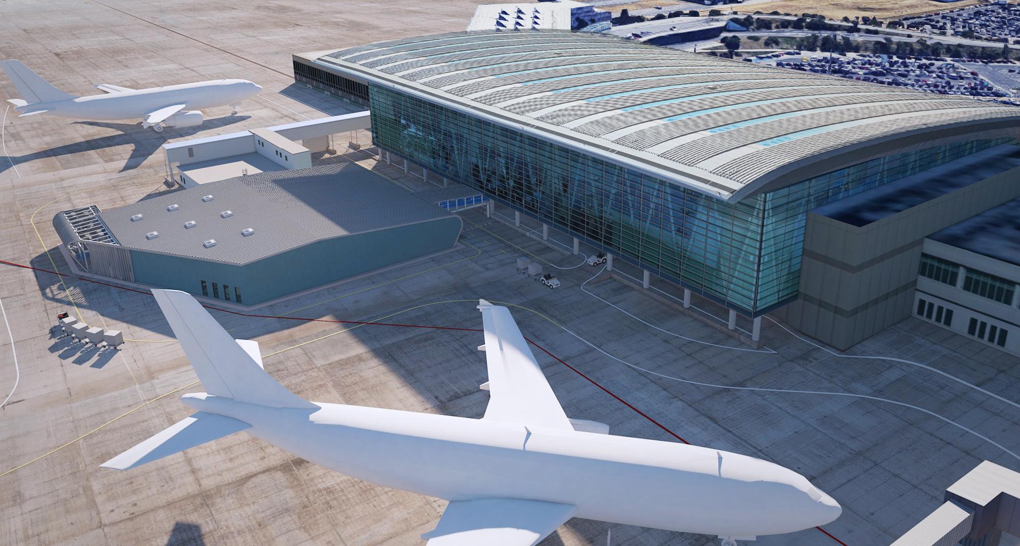 (fantáziarajz, fotók: Budapest Airport)