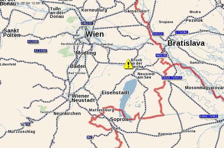 parndorf térkép IHO   Vasút   Baleset Brucknál parndorf térkép
