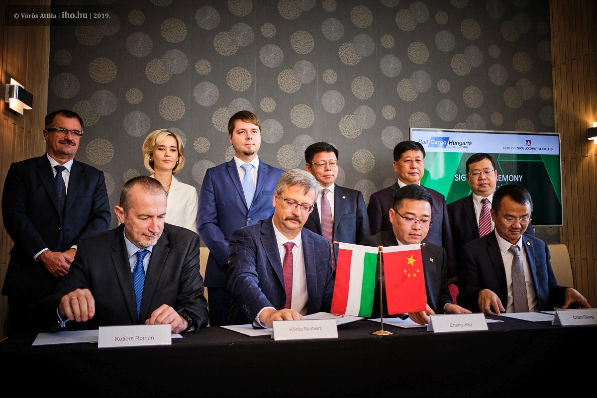 Az RCH–CRRC-szerződés aláírása 2019. szeptemberében