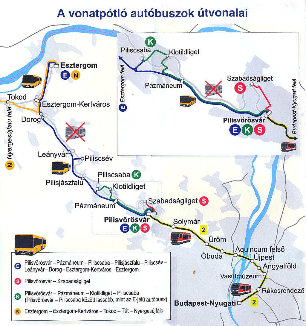 budapest esztergom vasútvonal térkép IHO   Vasút   Hétvégétől felújítás!
