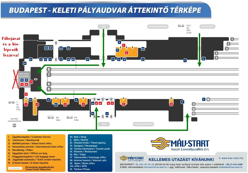 budapest térkép keleti pu IHO   Vasút   Lezárják a Keleti főbejáratát budapest térkép keleti pu