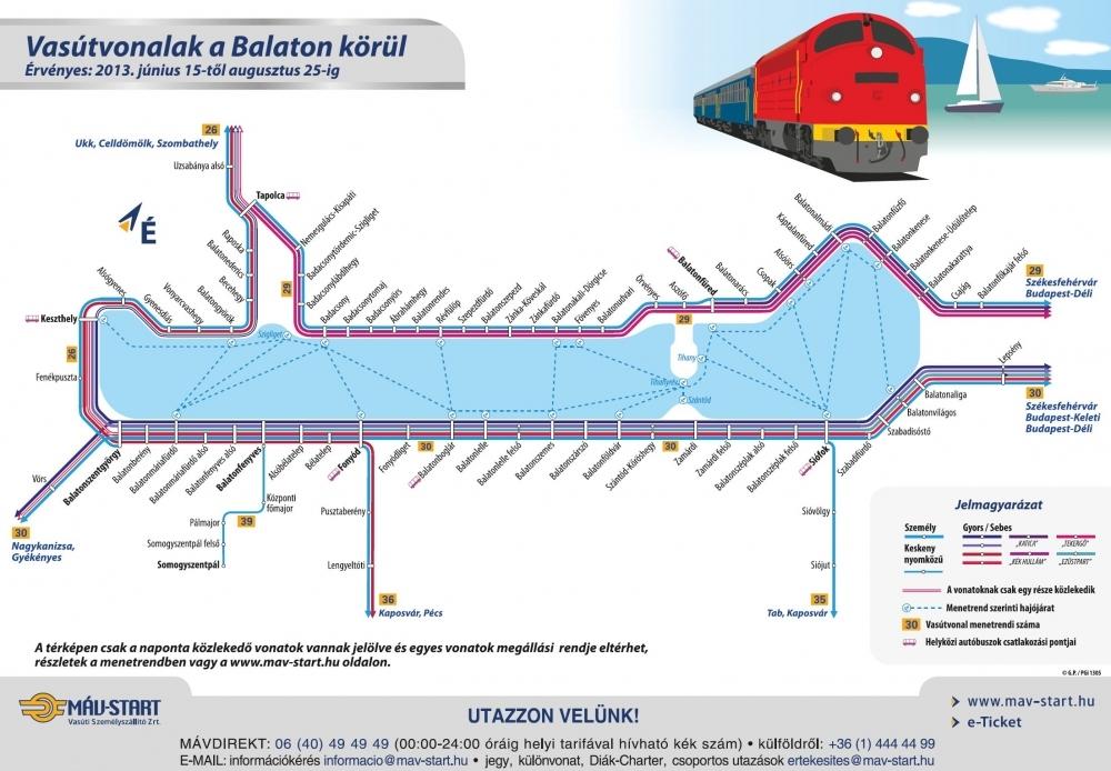 balaton vasúti térkép részletes IHO   Vasút   Kerékpárosoknak kedvez a nyári menetrend balaton vasúti térkép részletes