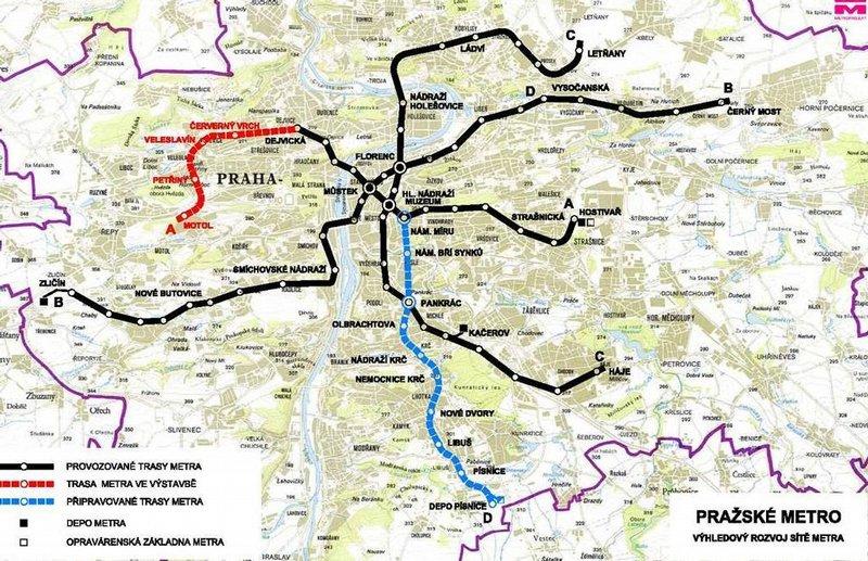 Iho Vasut Zoldet Kapott A Kek Metro Pragaban