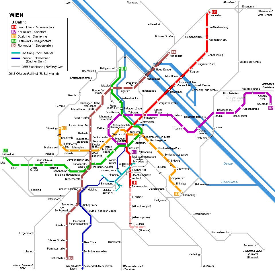 bécs metró térkép IHO   Vasút   Megkezdődött a bécsi U1 es hosszabbítása bécs metró térkép