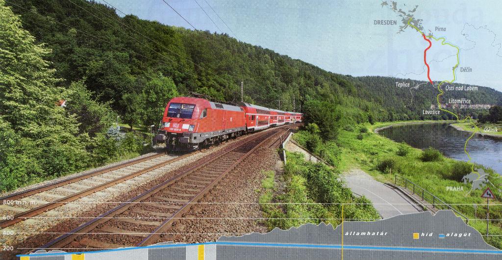 A megaprojekt teljesen új vasútvonal építésével számol a német–cseh határon