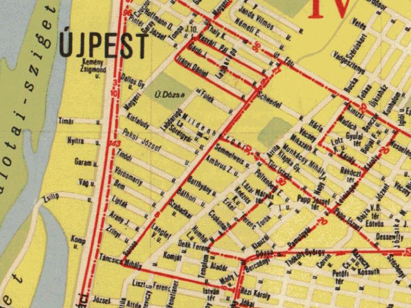 újpest térkép IHO   Vasút   Amikor az újpesti villamostalanítás kezdődött újpest térkép