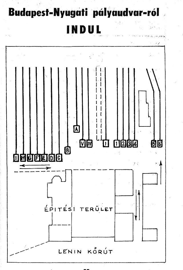 nyugati pályaudvar térkép IHO   Vasút   A Nyugati átépítése, ahogy az Uvaterv látta nyugati pályaudvar térkép