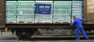 Félmillió raklapnyi ásványvizet szállított a Mattoni vasúton