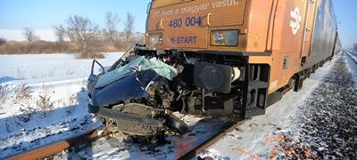Tavalyhoz képest idén kevesebb a baleset a vasúti átjárókban
