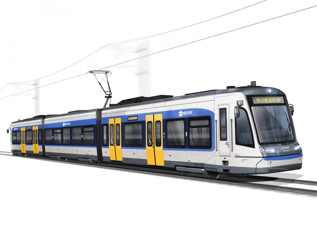 Az állami tőkeinjekciónak köszönhetően további négy Citylink-szerelvényt szerezhet be a MÁV-Start a már megrendelt nyolc vonat mellé az első magyar tramtrain-vonalra (látványterv: Stadler Rail)