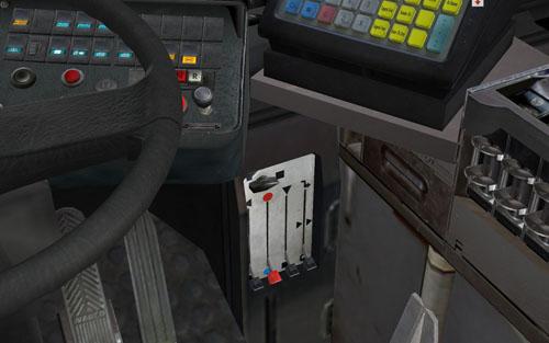 Vezetés közben folyamatosan gondoskodnunk kell az utasok kényelméről, így a fűtésről is. A hőfokot alul szabályozhatjuk, míg az SD202-es esetén a kép bal szélén látható gombokkal kapcsolhatjuk be a ventilátorokat. A hőfokmérőt a pénztárgép mögött találjuk majd meg