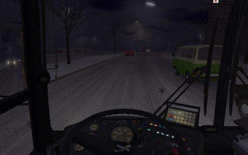 Az időjárás teljesen reális, hó esetén óvatosan kell a fékkel és a gázzal bánni, hamar kipördülhetünk