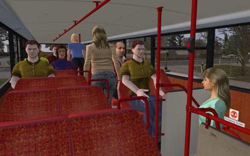 Az utasok felszállás után helyet is foglalnak