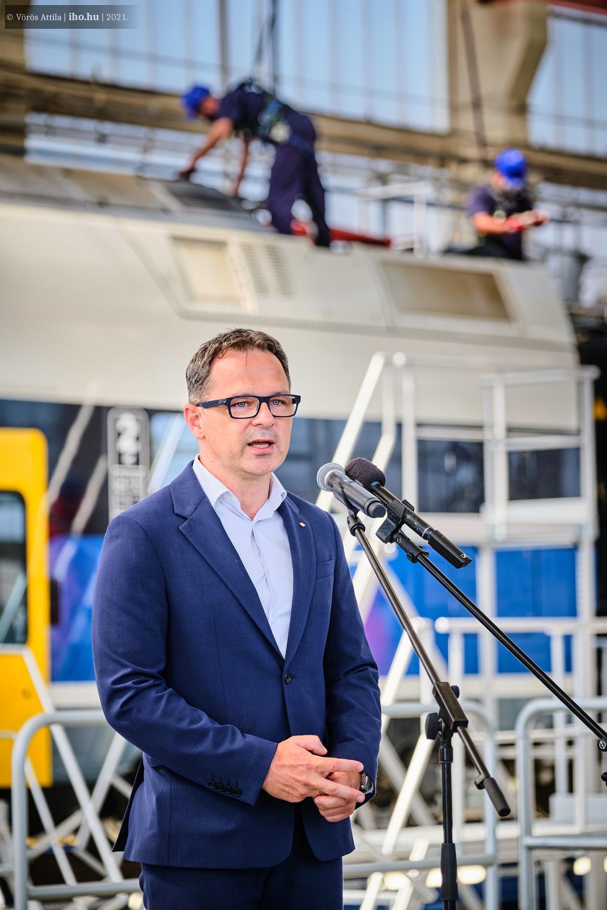 Kerékgyártó József, a MÁV-Start vezérigazgatója (képek: Vörös Attila)