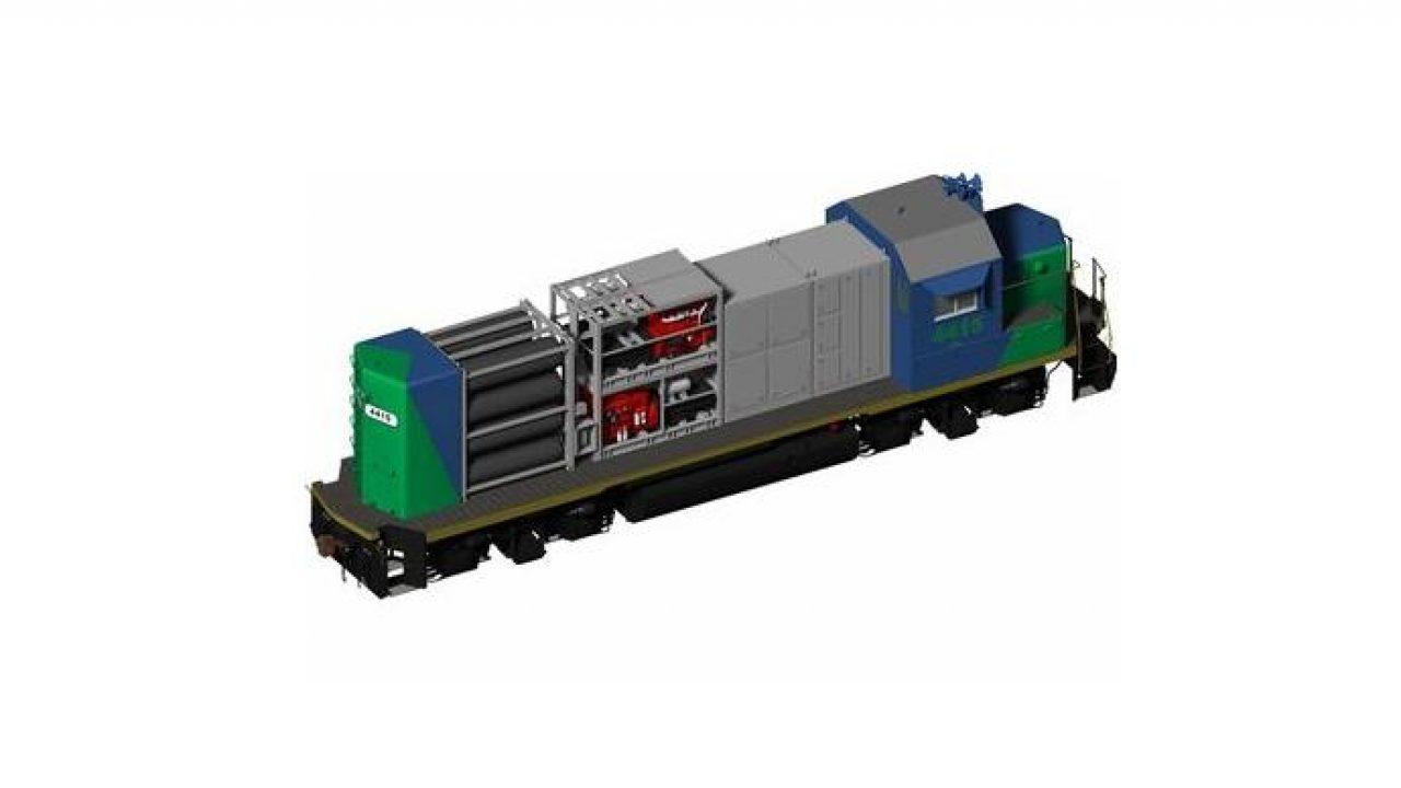 CNG tartályok beépítése mozdonyon belül