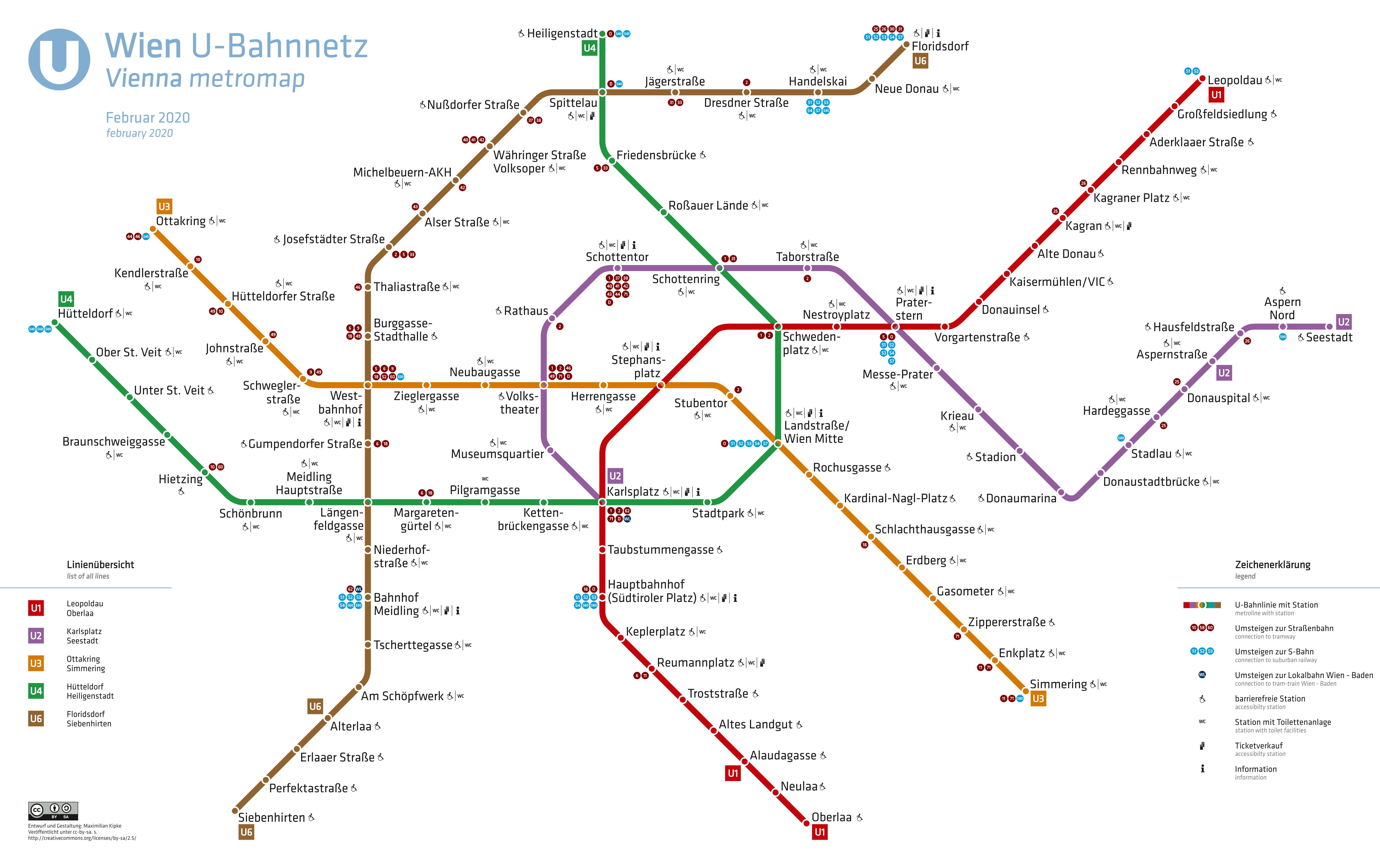 Keresse a különbségeket! Bécs metróhálózata 2019-ben
